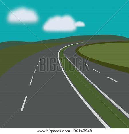 Curving Highway.