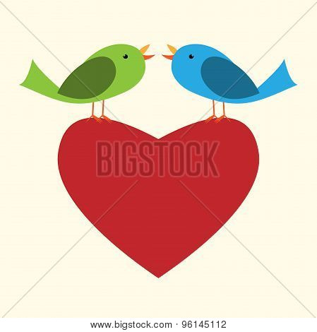 Two Birds On Heart