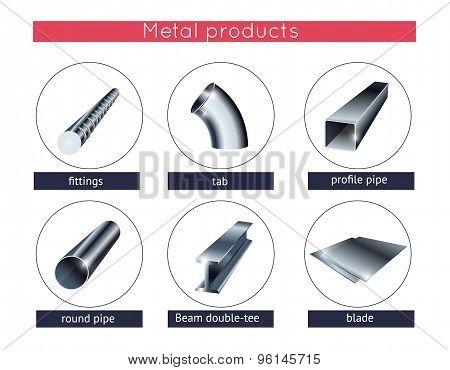 Metal profile and tubes