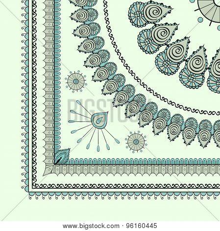 Mehendi tracery hindi drawing, carpet corner