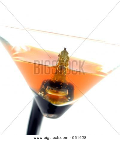 High Key Image Of Car Keys In A Coctail - Don'T Drink And Drive