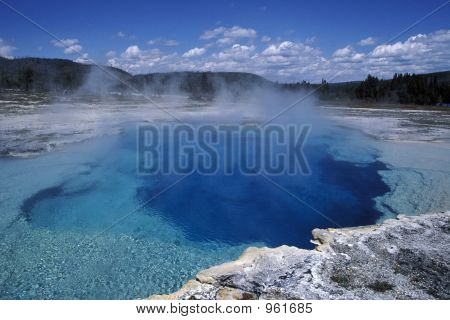 Blue Pool Of Yellowstone