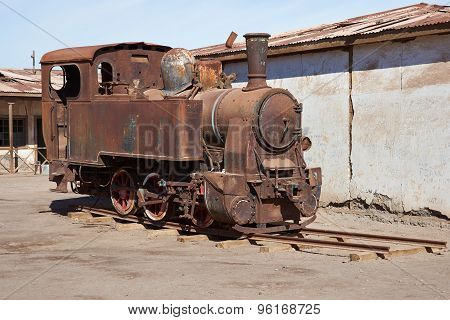 Steam Locomotive at the Humberstone Saltpeter Works