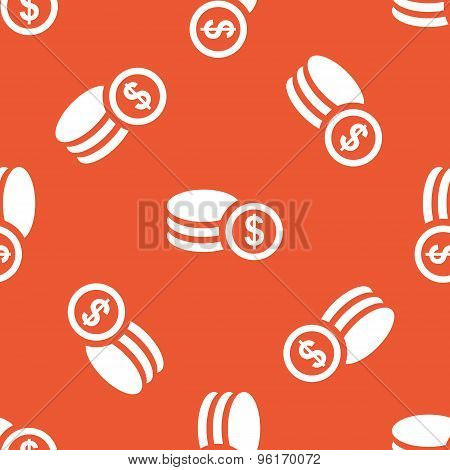 Orange dollar rouleau pattern