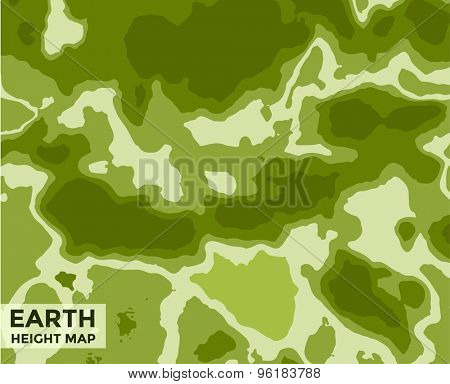 Global Earth vector Map on background. Texture, Island or Surface and Height symbol. Stock design element.