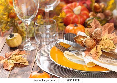 Thanksgiving Dinner Decoration.