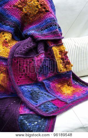 Crochet, Granny Square Pattern Blanket