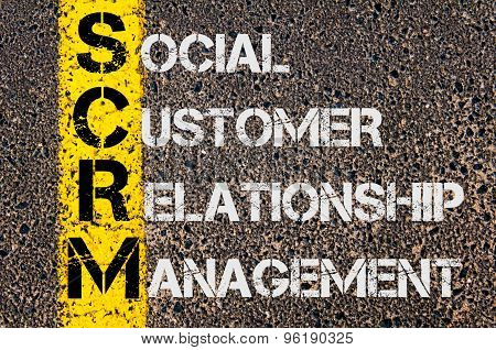 Business Acronym Scrm As Social Customer Relationship Management
