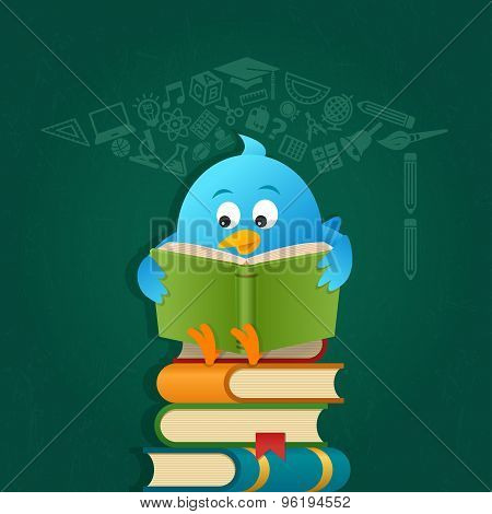 Blue Bird Reading Book
