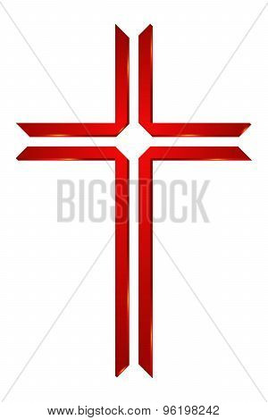 Logo for Church. Cross Logo. Symbol of Christianity poster