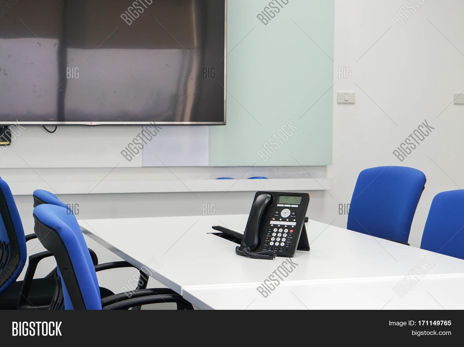 Ip Phone On Table Image Photo Free Trial Bigstock