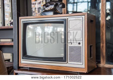 Vintage Television Tv And Telephone