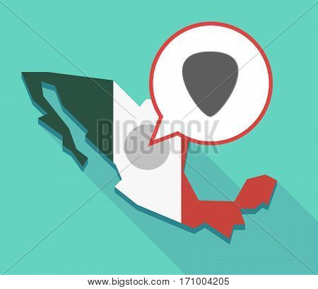 Long Shadow Mexico Map With A Plectrum