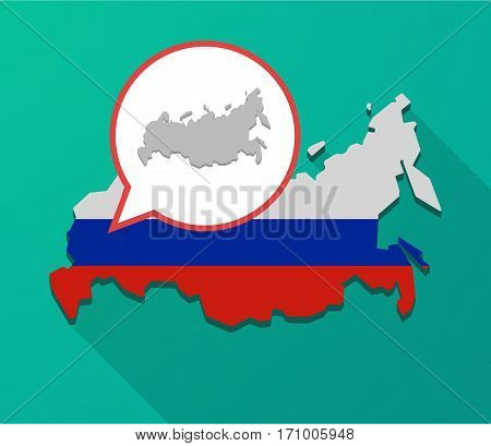 Long Shadow Russia Map With  A Map Of Russia