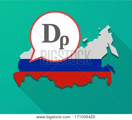 Long Shadow Russia Map With A Drachma Currency Sign