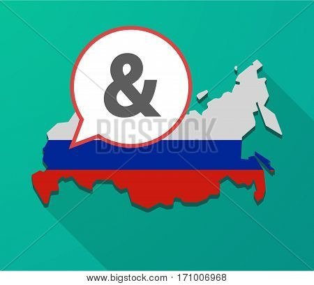 Long Shadow Russia Map With An Ampersand
