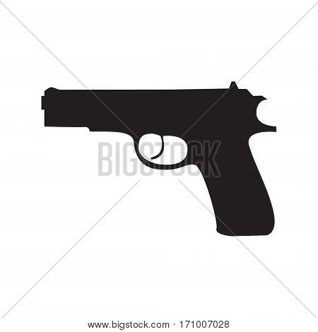 Pistol Gun Icon Vector Illustration on the white background