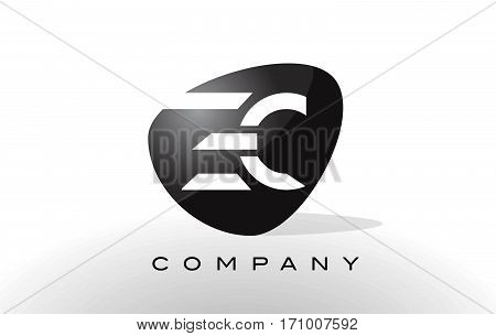 EC Logo. Letter Design Vector with Red and Black Colors.