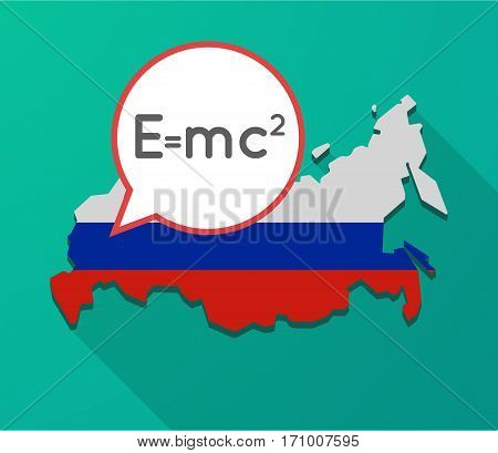 Long Shadow Russia Map With The Theory Of Relativity Formula