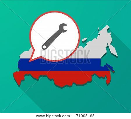 Long Shadow Russia Map With A Spanner