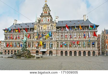 The City Hall Of Antwerp
