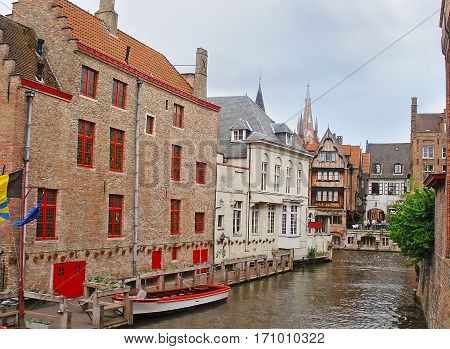 The Green Canal In Bruges