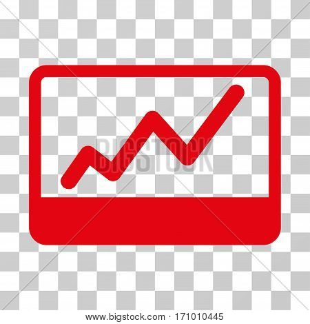 Stock Market icon. Vector illustration style is flat iconic symbol red color transparent background. Designed for web and software interfaces.
