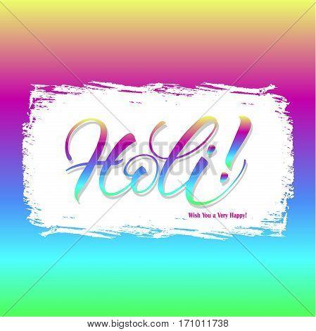 Holi festival poster. Template for flyer, brochure or invitation