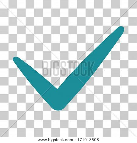 Valid icon. Vector illustration style is flat iconic symbol soft blue color transparent background. Designed for web and software interfaces.