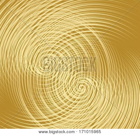 Golden texture with overlapping fine spiral shapes decorative metallic texture