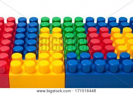 Building colored blocks - plastic construction toy