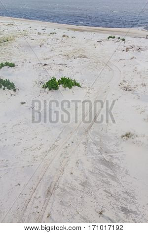 Road In The Sand Of Lagoa Do Patos Lake