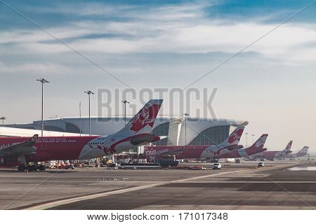 Kuala Lumpur, Malaysia, February 12: Klia 2 Is The Low Cost Terminal And Home To Airasia, Leading Lo
