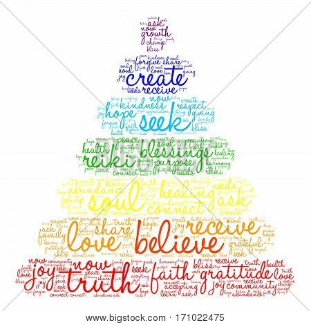Believe word cloud on a white background.