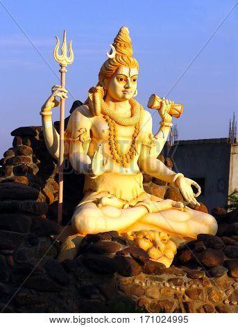 Statue of Lord Shiva in Karnataka India