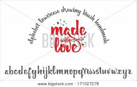 Font drawn on the basis of handwriting calligraphy, modern cursive script brush. Made with love.