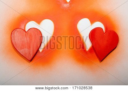 Holidays gift and heart on a white background.