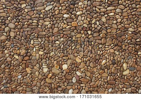 Image of brown stones on decoration wall