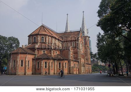 Saigon Notre-dame Cathedral Basilica (basilica Of Our Lady Of The Immaculate Conception)  In Ho Chi
