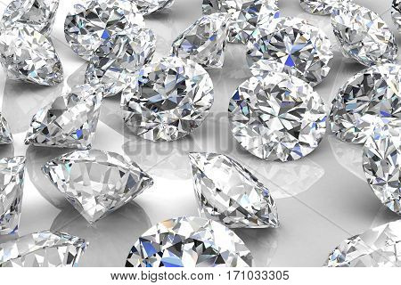 diamond jewel on background (high resolution 3D image)