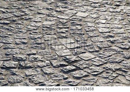 Paving stone texture, paving in the park