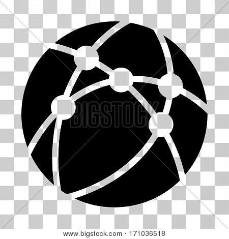Browser icon. Vector illustration style is flat iconic symbol black color transparent background. Designed for web and software interfaces.