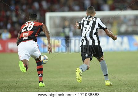 Rio Brazil - february 12 2017: Xxxxxx during Botafogo X Flamengo held at the Nilton Santos Stadium for the 4th round of the Carioca championship (Guanabara Cup)