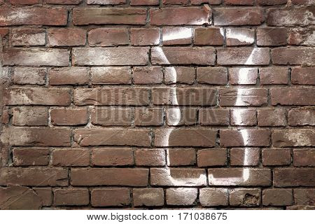 texture of a brick wall  with space for text