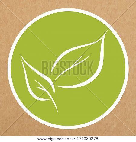 Leaves icon vector sign. Eco, hypoallergenic, organic icon