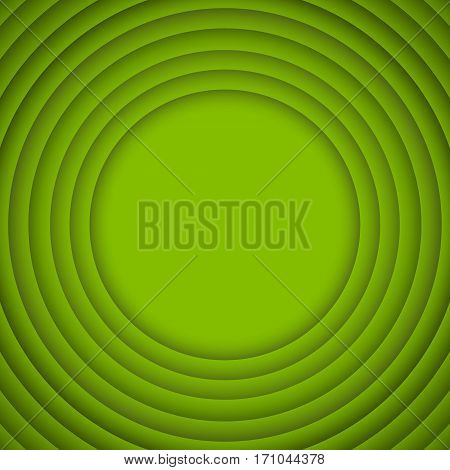 Vector Concentric Circle Greenery Elements Background.Vector illustration. Background with Green Circles from Shadow. Wed Design.