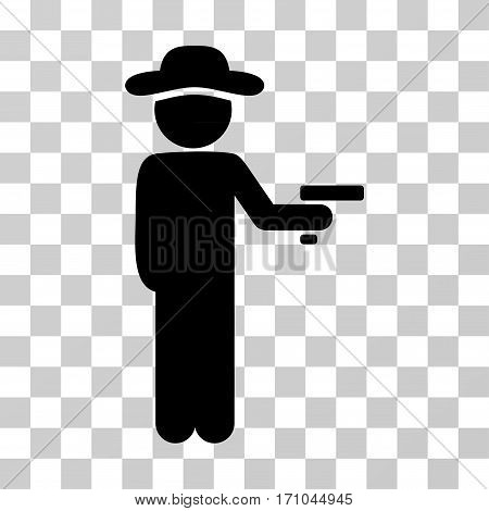 Gentleman Robber icon. Vector illustration style is flat iconic symbol black color transparent background. Designed for web and software interfaces.