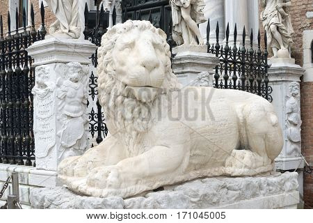 Marble Lion In Venice
