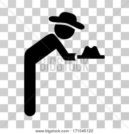 Gentleman Servant icon. Vector illustration style is flat iconic symbol black color transparent background. Designed for web and software interfaces.