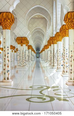 Columns Background Of Grand Mosque